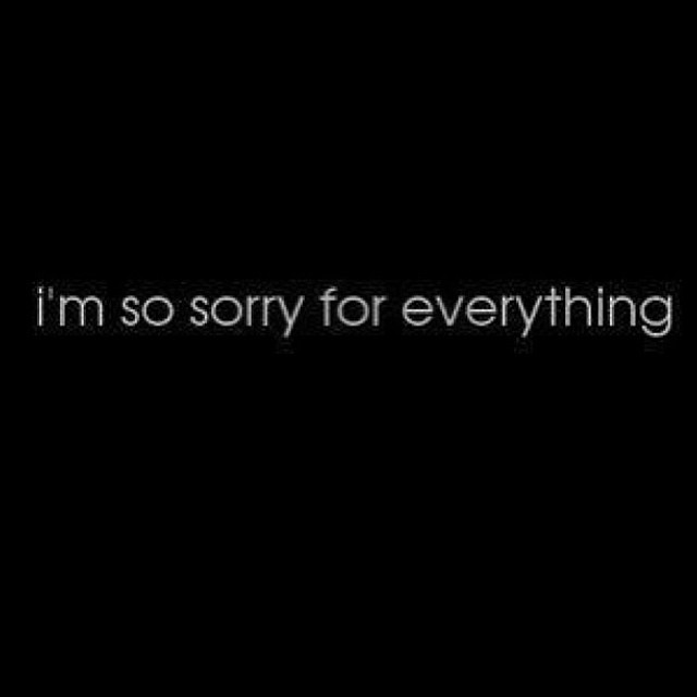i'm so sorry for everyThing