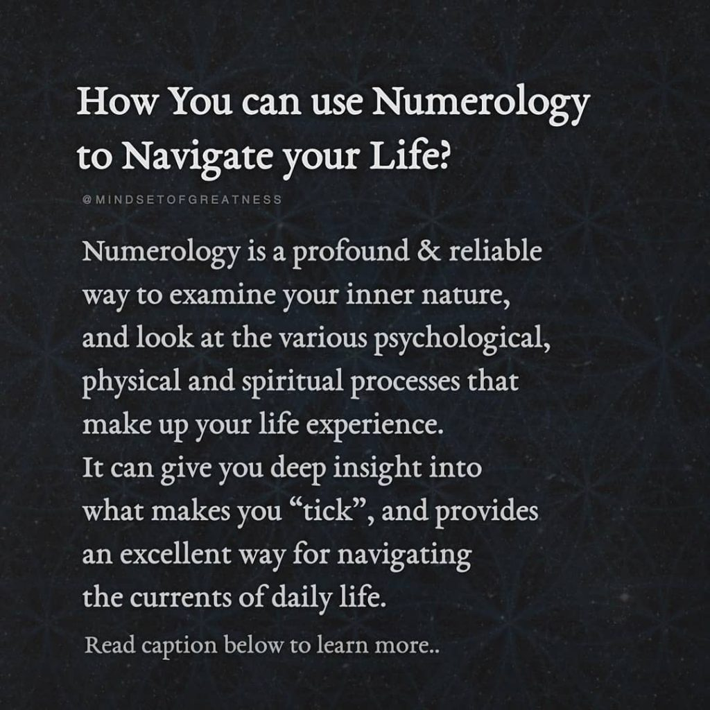 "How You can use Numerology Navigate your Life? to @MINDSETOFGREATNESS Numerology is a profound & reliable way to examine your inner nature, and look at the various psychological, physical and spiritual processes that make up your life experience. It can give you deep insight into what makes you ""tick"", and provides an excellent way for navigating the currents of daily life. Read caption below to learn more..."