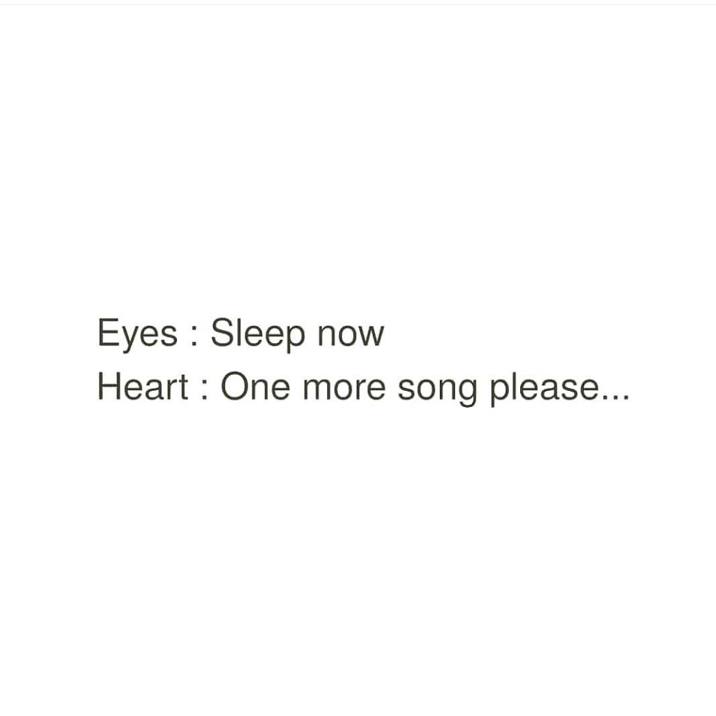 Eyes Sleep now Heart One more song please...
