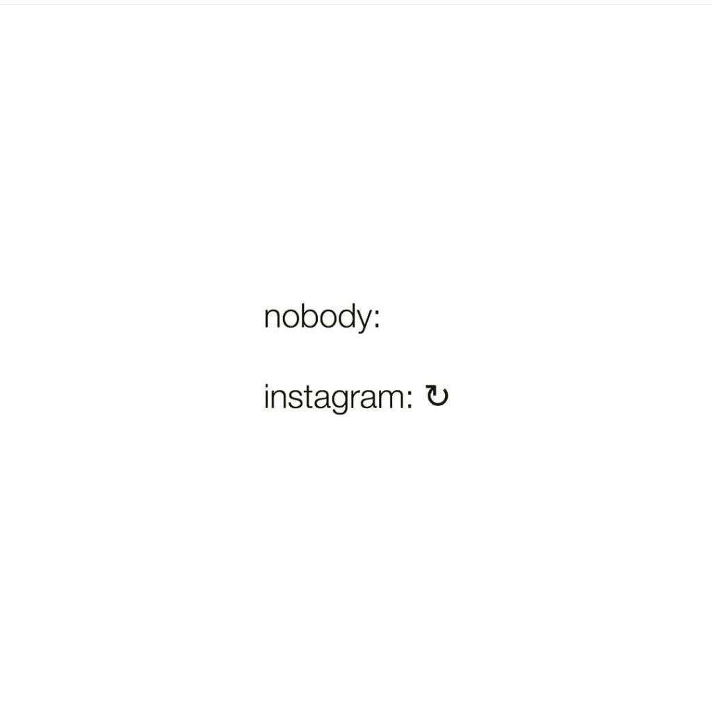 nobody: instagram: